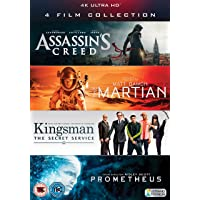 Deals on Martian, Prometheus, Kingsman And Assassins Creed 4K Blu-ray