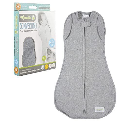 Woombie Convertible Baby Swaddle Blanket, Converts to Wearable Blanket for Babies Up to 6 Months