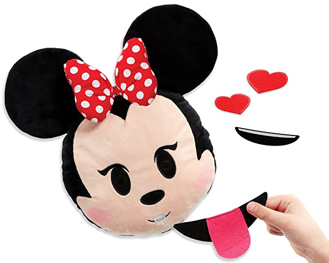 Amazon.com: Disney Emoji - 71246.4300 - Swapsies Minnie - Ma Peluche Qui Change dExpression: Toys & Games