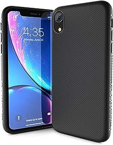 Luarro Aurora Series Designed for Apple iPhone XR Case (2018) - Matte Black Slim Grip Case