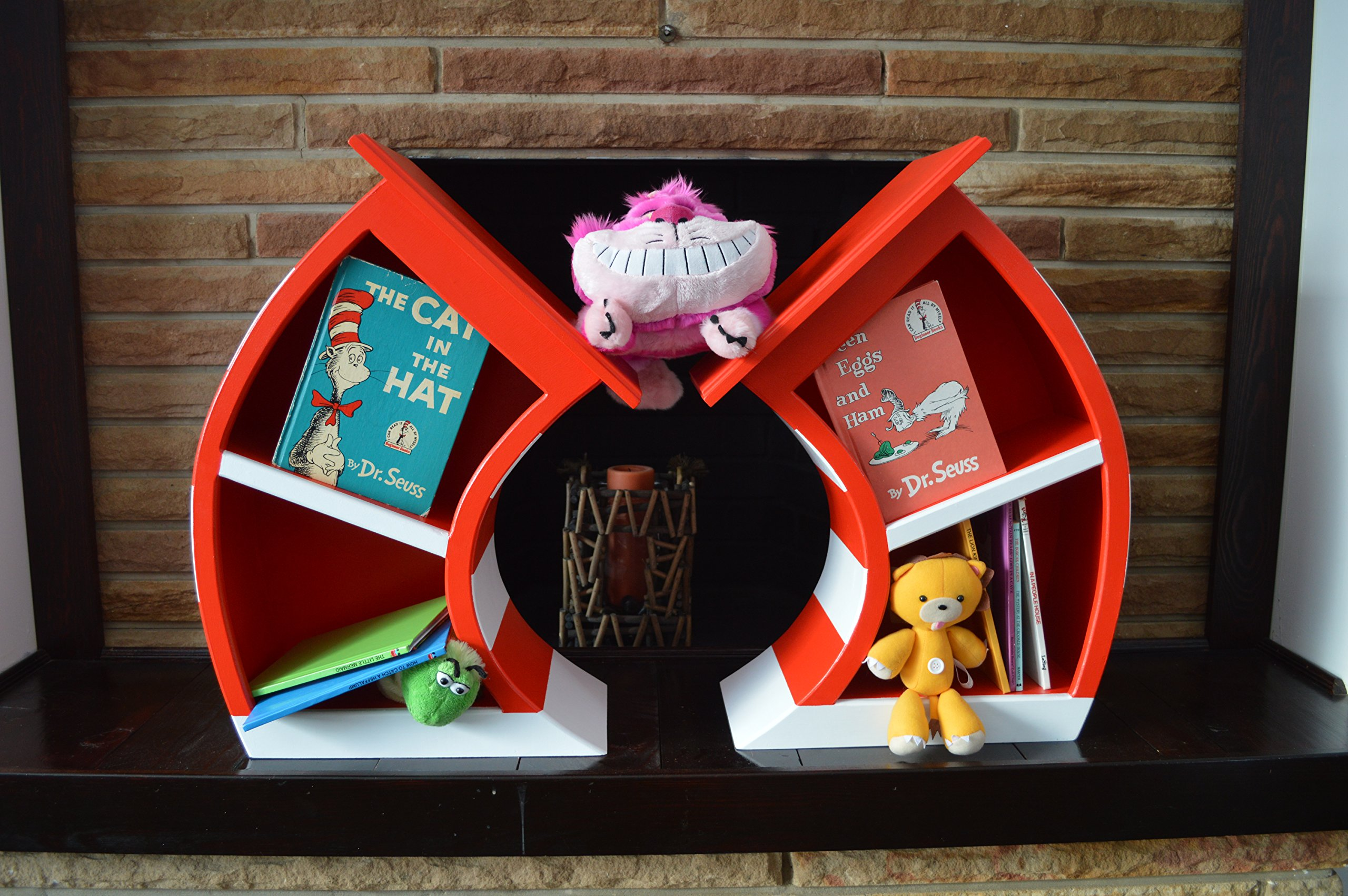 2' Cat In The Hat Bookcase by Inked Woodworking