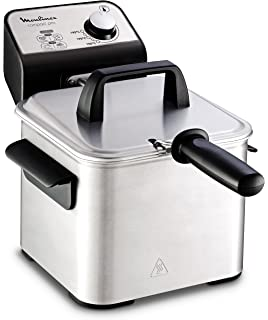 Moulinex Compact Pro AM322070 - Freidora Clásica, 2 Niveles de Cocción, Termostato Regulable,