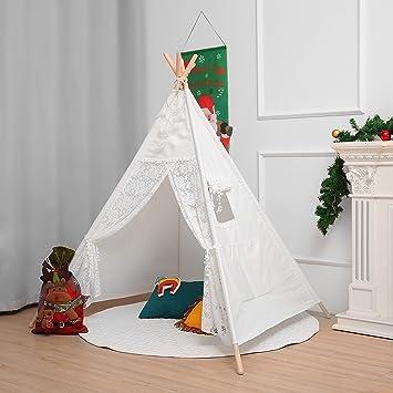 little dove Tipi - Tienda de campaña para niños (100% algodón, incluye colchón): Amazon.es: Hogar