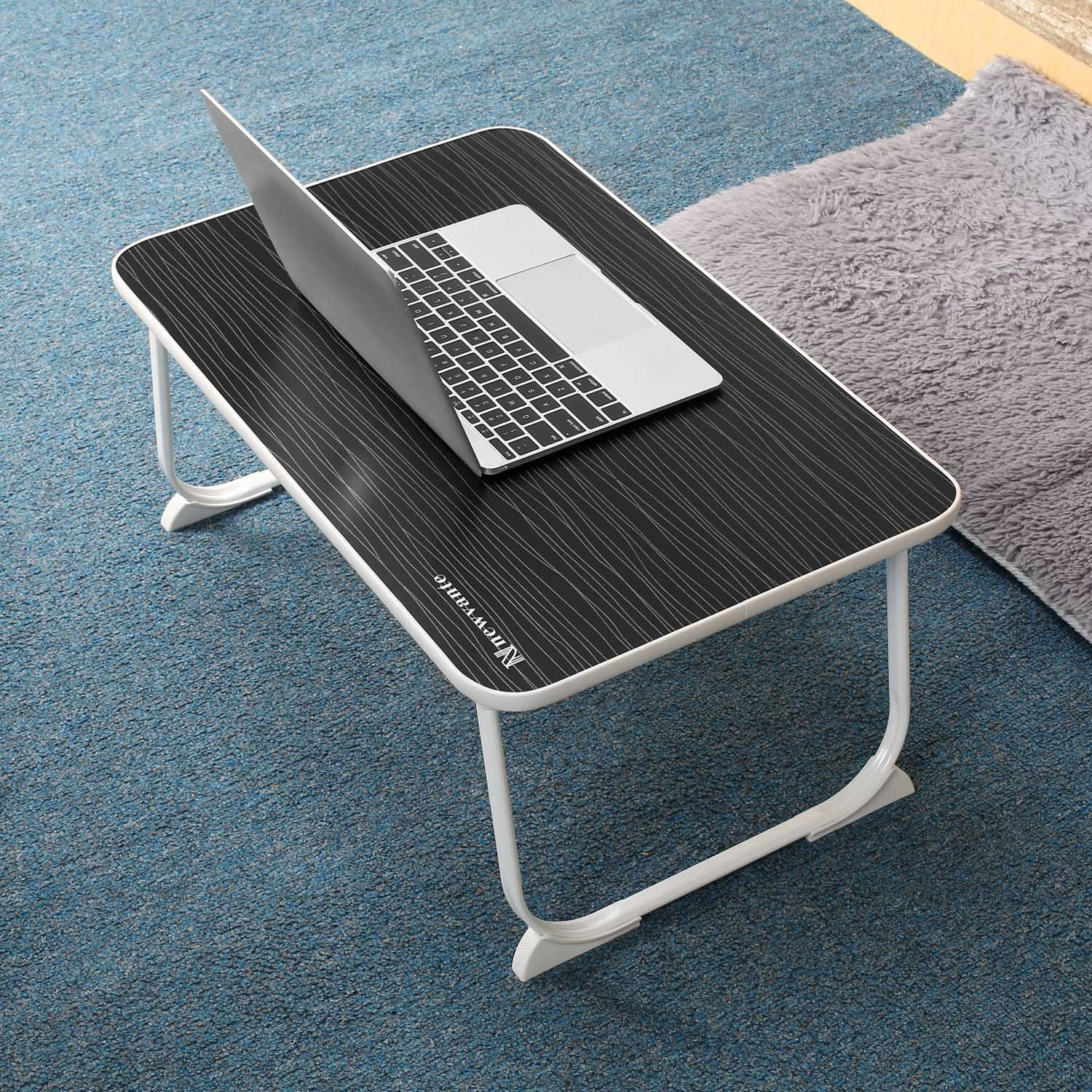 Large Lap Desk Bed Tray NNEWVANTE Laptop Table Desk Foldable Portable Standing Breakfast Reading Tray Holder for Couch Floor Students Kids Young Color(Black) by NNEWVANTE (Image #6)
