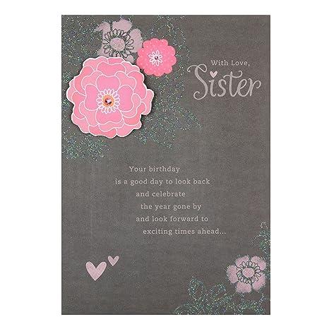 Hallmark Biglietto Di Auguri Di Compleanno Per Sorella Exciting