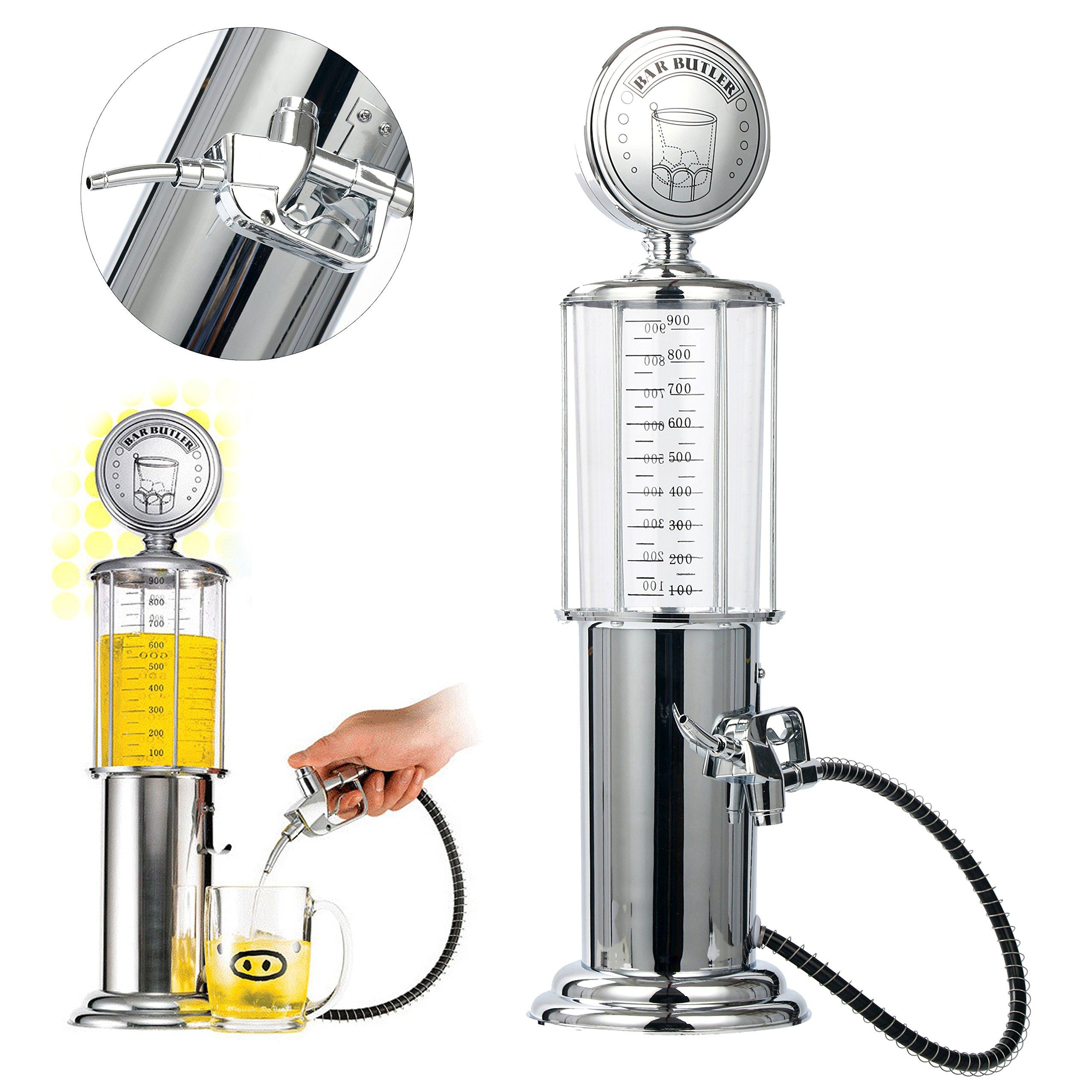 YaeBrew Gas Pump Liquor Dispenser - Gun Barware Mini Beer Pourer Water Liquid Bar Drinking Alcohol Dispenser Wine Pump Dispenser Machine - Whiskey / Bourbon Decanter (Single Gun) by YaeBrew