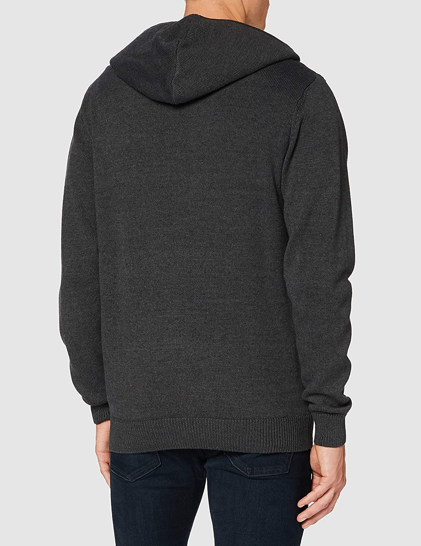 Blue Seven Mens Herren Strickjacke Mit Kapuze Und Reisverschluss Cardigan Sweater