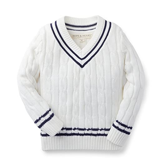 Vintage Style Children's Clothing: Girls, Boys, Baby, Toddler Boys Tennis Sweater Made With Organic Cotton $25.95 AT vintagedancer.com