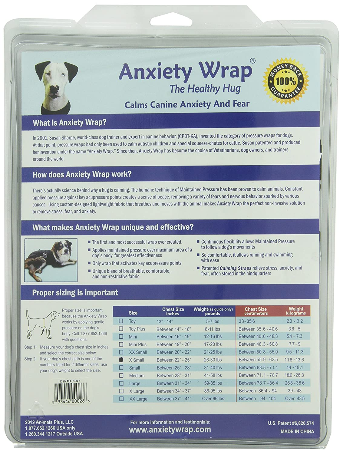 Company of Animals The Original Ansiety Wrap: Amazon.es: Productos para mascotas
