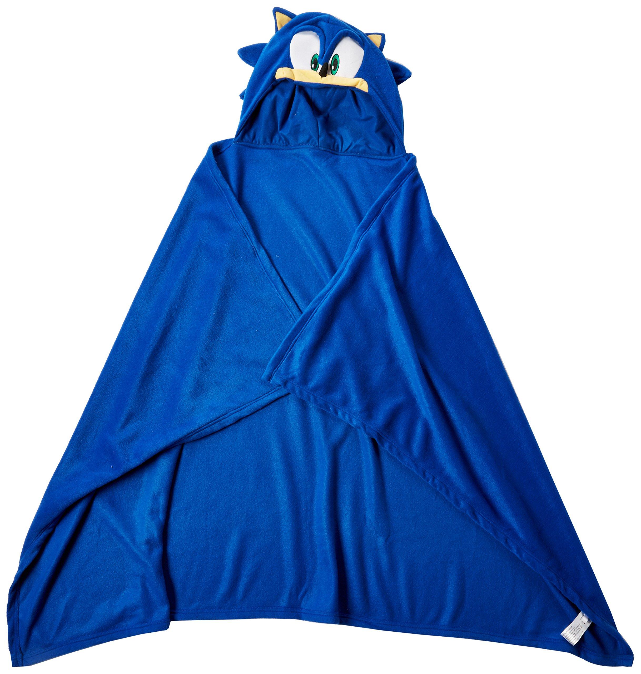 Great Eastern Sonic The Hedgehog GE-34020 Sonic Head Hoodie Blanket 57'' x 41'' by Great Eastern