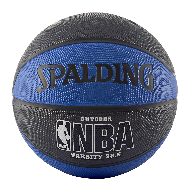 Blue//Black Spalding NBA Varsity Outdoor Rubber Basketball Intermediate Size 6 28.5 in