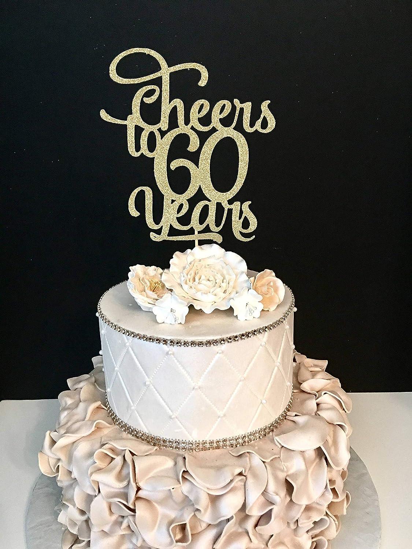 Funlaugh Any Number Cheers to 60 Years Cheer 60Th Birthday Cake ...