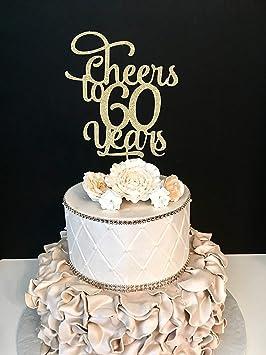 Funlaugh Any Number Cheers To 60 Years Cheer 60Th Birthday Cake