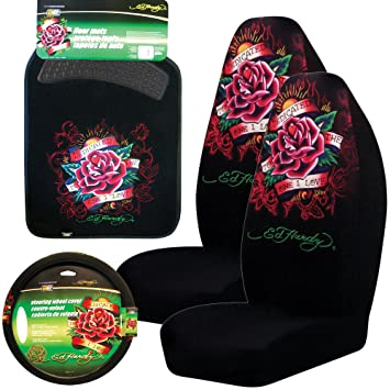 Ed Hardy Dedicated To The One I Love 5 Pc Set Seat Covers Floor