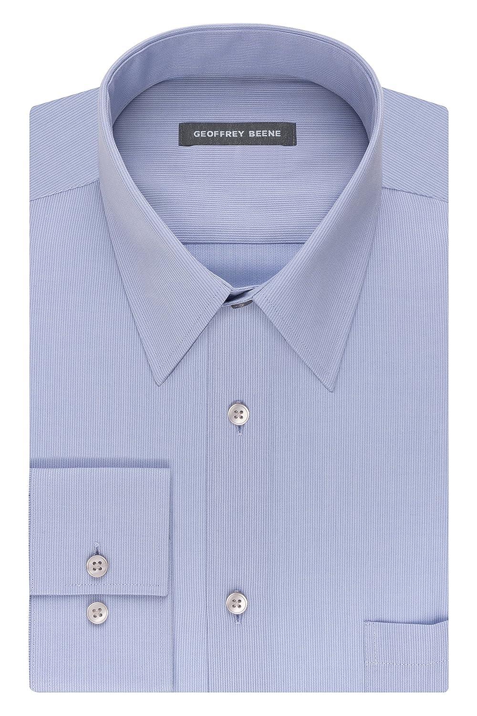 Geoffrey Beene Mens Regular Fit Textured Stripe Sateen Shirt At