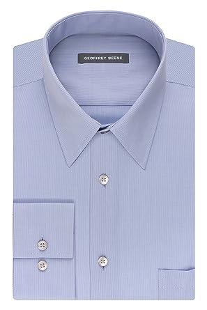 88d7613019 Geoffrey Beene Men s Regular Fit Textured Stripe Sateen Shirt at ...