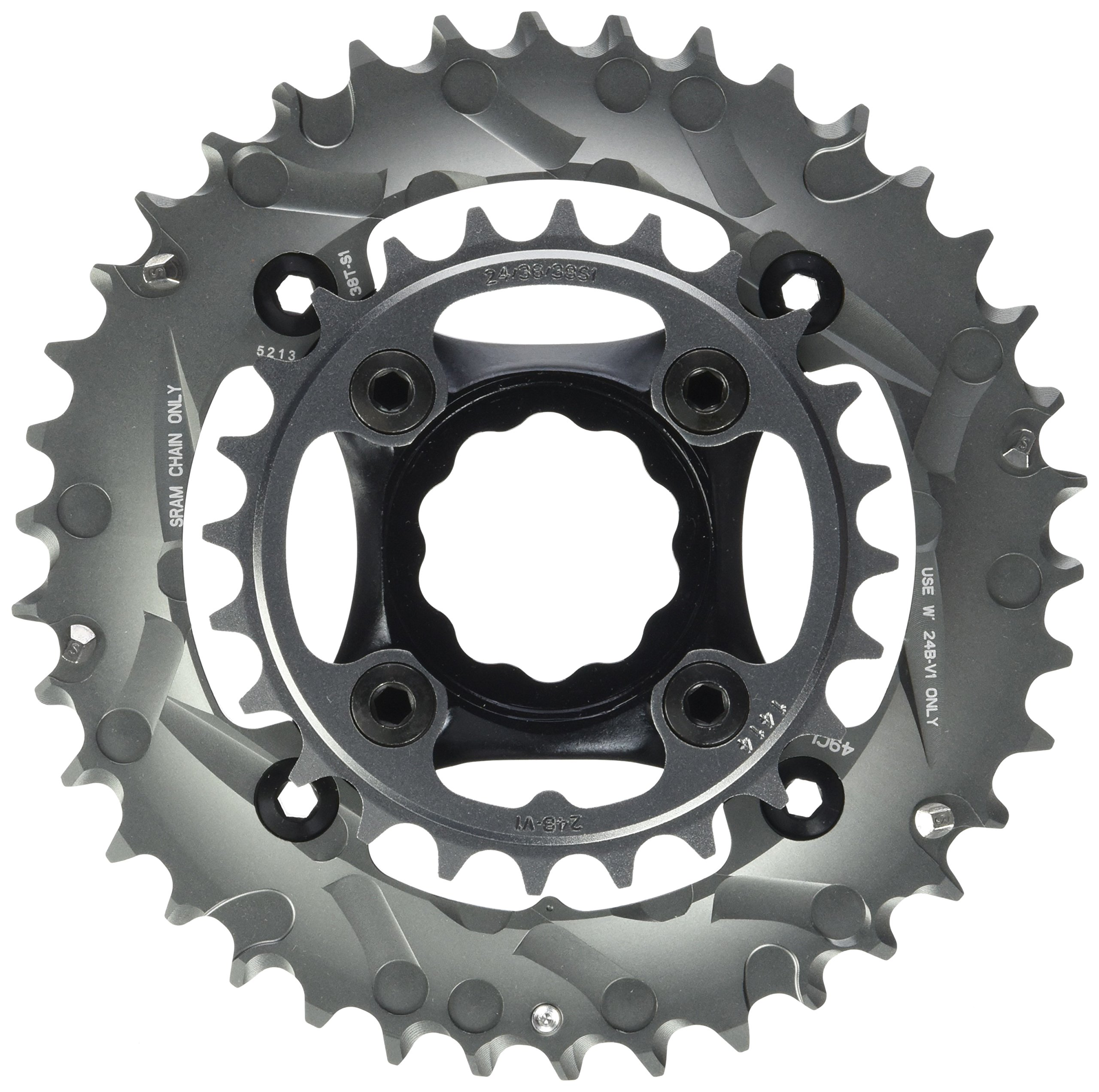 Truvativ Truvativ Crank 10-speed Chainring Set 38-24t with X9 Specialized GXP Spider 49 Chainline 104/64 BCD Chainrings [104 BCD] by Truvativ (Image #1)