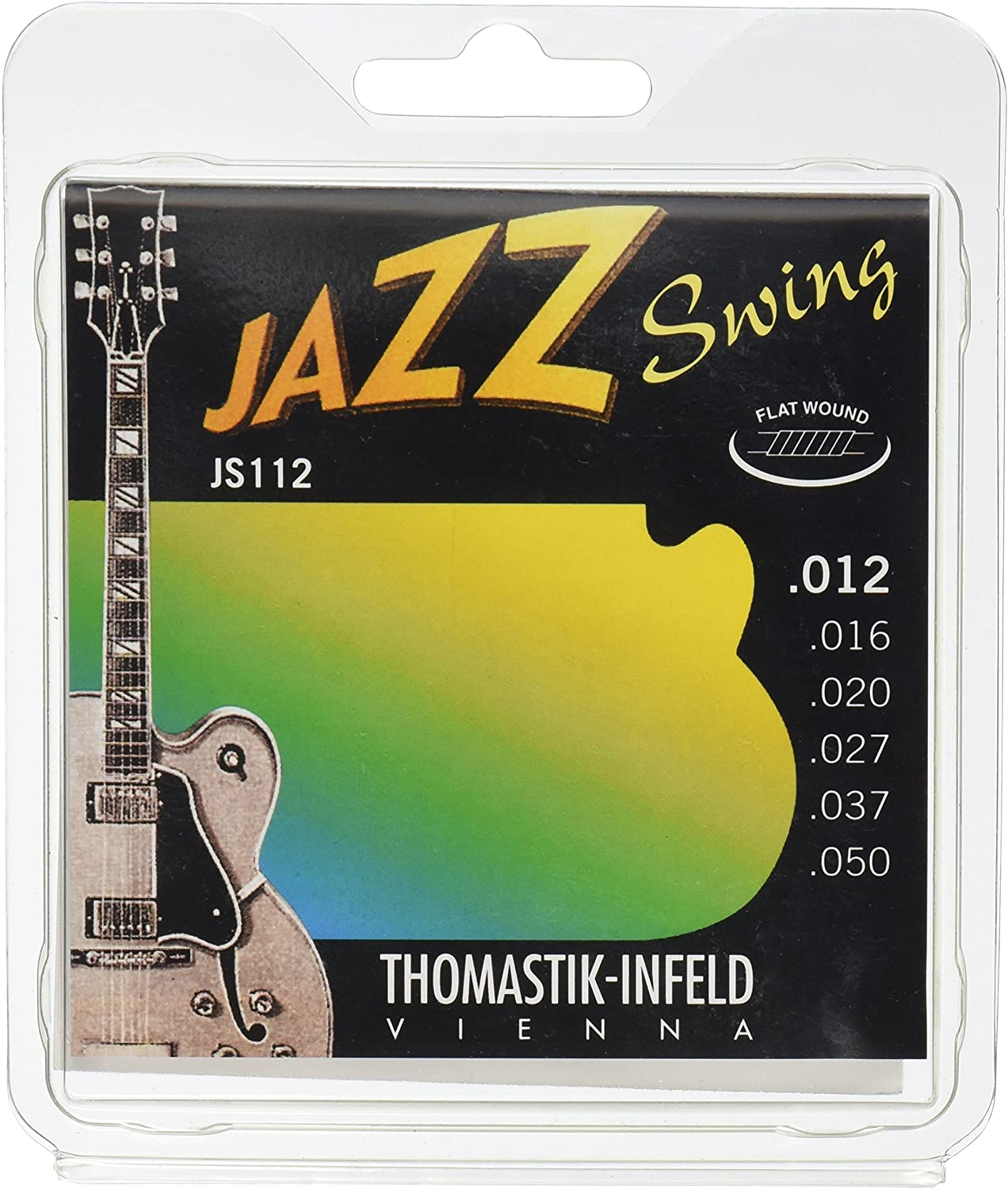 Thomastik Cuerdas para Guitarra Eléctrica Jazz Swing Series niquel Flat Wound juego JS112 Medium Light .012-.050w