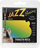 Thomastik Jazz Swing Series Guitar 6 String Pure Nickel Flat Wounds E, B, G, D, A, E Set (JS112)