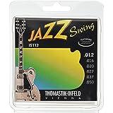 Thomastik Jazz Swing Series Guitar 6 String Pure Nickel Flat Wounds E, B, G, D, A, E Set (JS112)