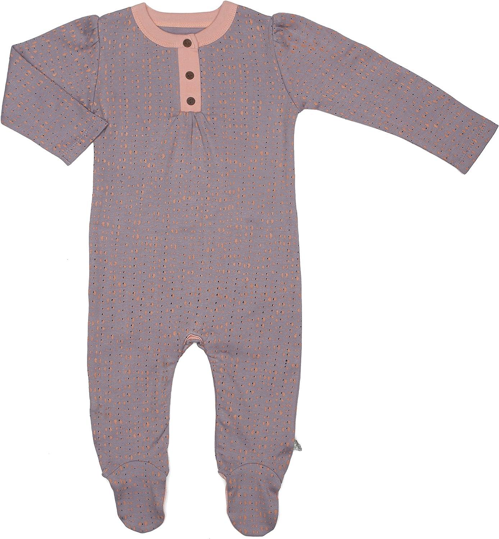 Woodland Finn Emma Organic Cotton Footie for Baby Boy or Girl 6-9 Months