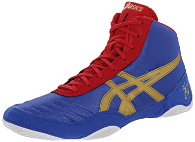 on sale fbe97 39035 ASICS Men s JB Elite V2.0 Wrestling Shoe, Jet Blue Olympic Gold