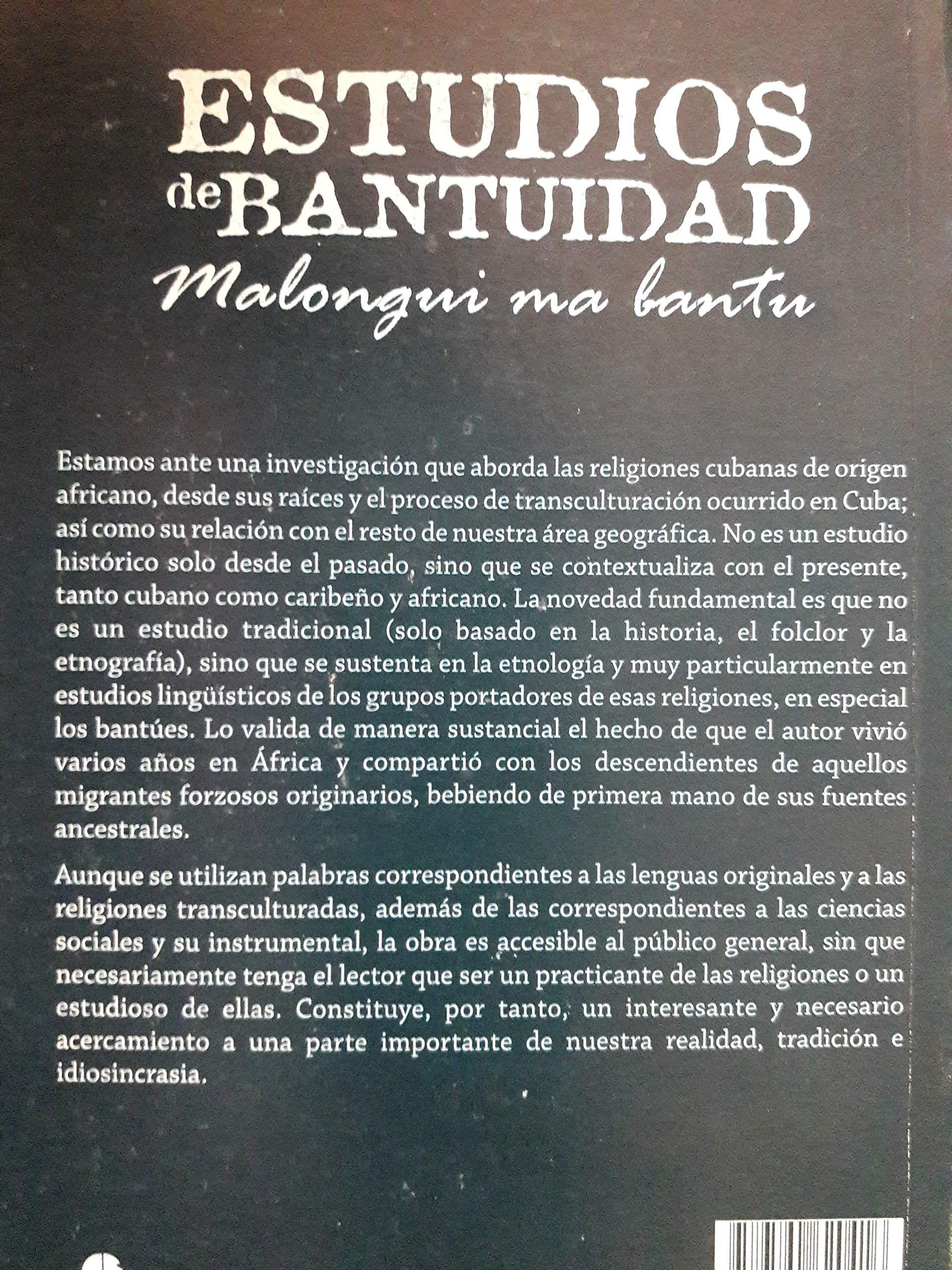 Amazon.com: Estudios de bantuidad malongui ma bantu spanish ...