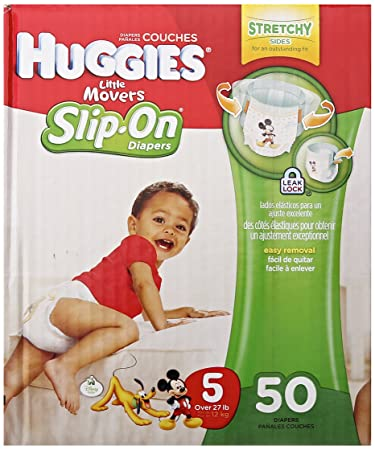 Huggies Little Movers Slip-On Diapers, Step 5, 50 ct