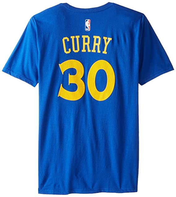 Camiseta del jugador Stephen Curry del los Golden State Warriors de la Nba, marca Adidas, color azul, hombre, azul, small: Amazon.es: Deportes y aire libre
