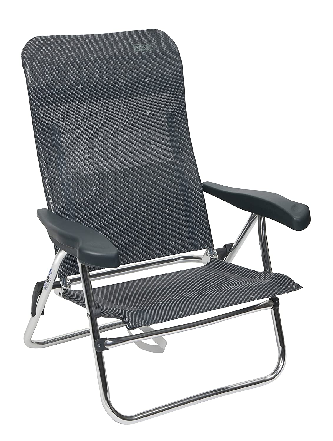Amazon.com: Crespo - Beach Chair - AL-205 - Dark Grey (40): Automotive