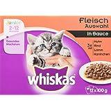 Whiskas Katzenfutter Junior / Hochwertiges Nassfutter für ein gesundes Wachstum junger Katzen