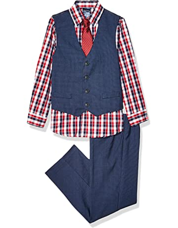 56d3ca1cd Nautica Boys' 4-Piece Vest Set with Dress Shirt, Tie, Vest,
