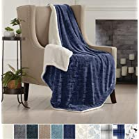 Premium Reversible Berber and Sculpted Velvet Plush Luxury Blanket. High-End, Soft, Warm Sherpa Bed Blanket. by Home Fashion Designs Brand.