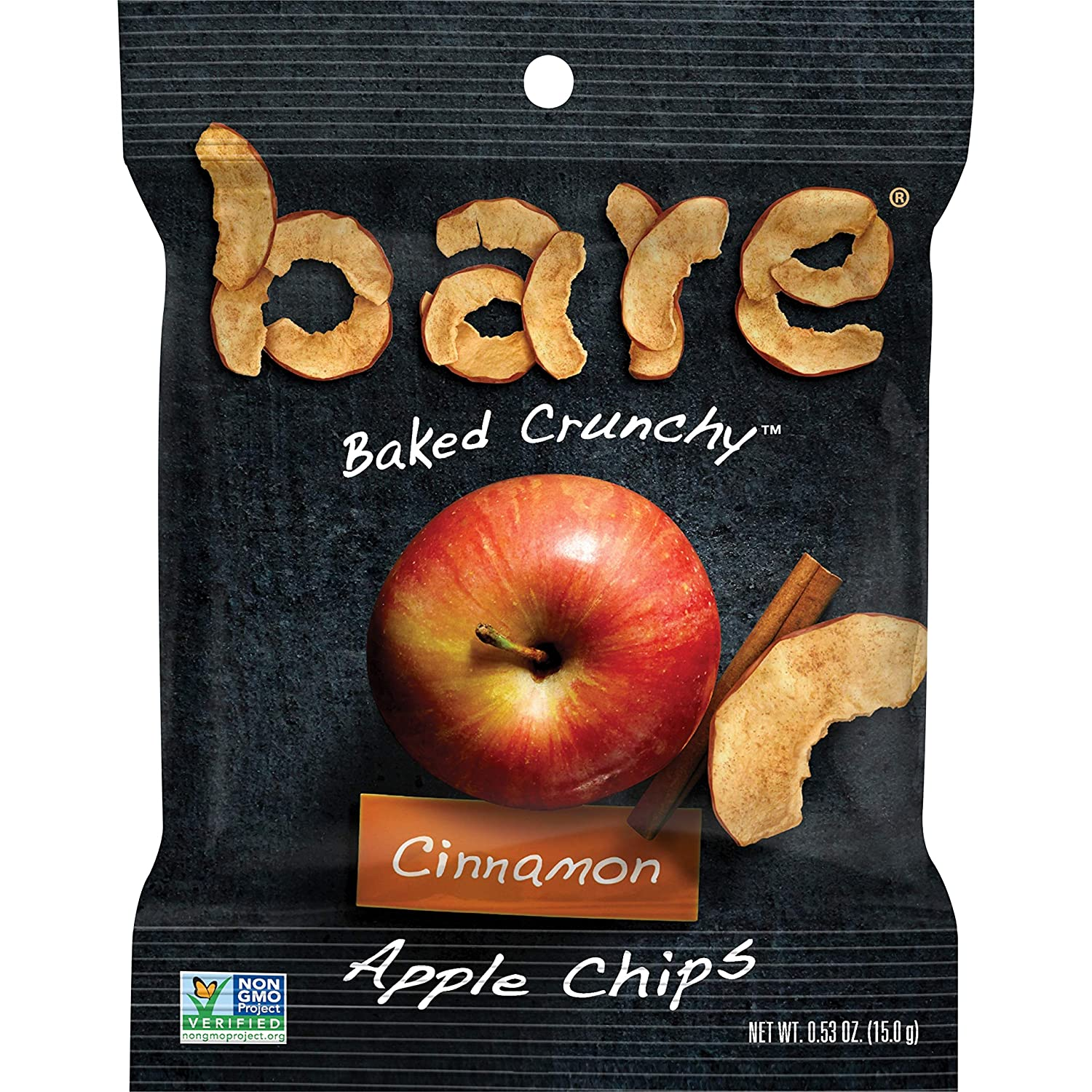 Bare bare Baked Crunchy Apples, Cinnamon, 0.53oz (16 Count)
