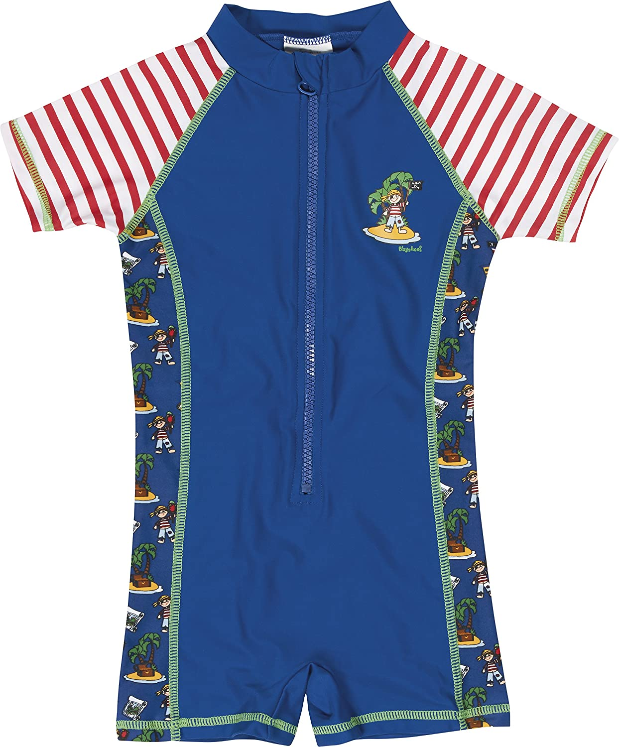 Playshoes Boys UV Sun Protection All-in-One Swimsuit Pirate Island Swim Shorts