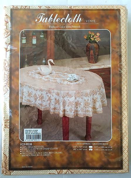 Deluxe Vinyl Tablecloth  60u0026quot; X 90u0026quot; Oval ...
