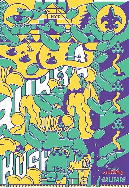 Amazoncom Bubba Kush Full Color Cannabis Strain Art Poster