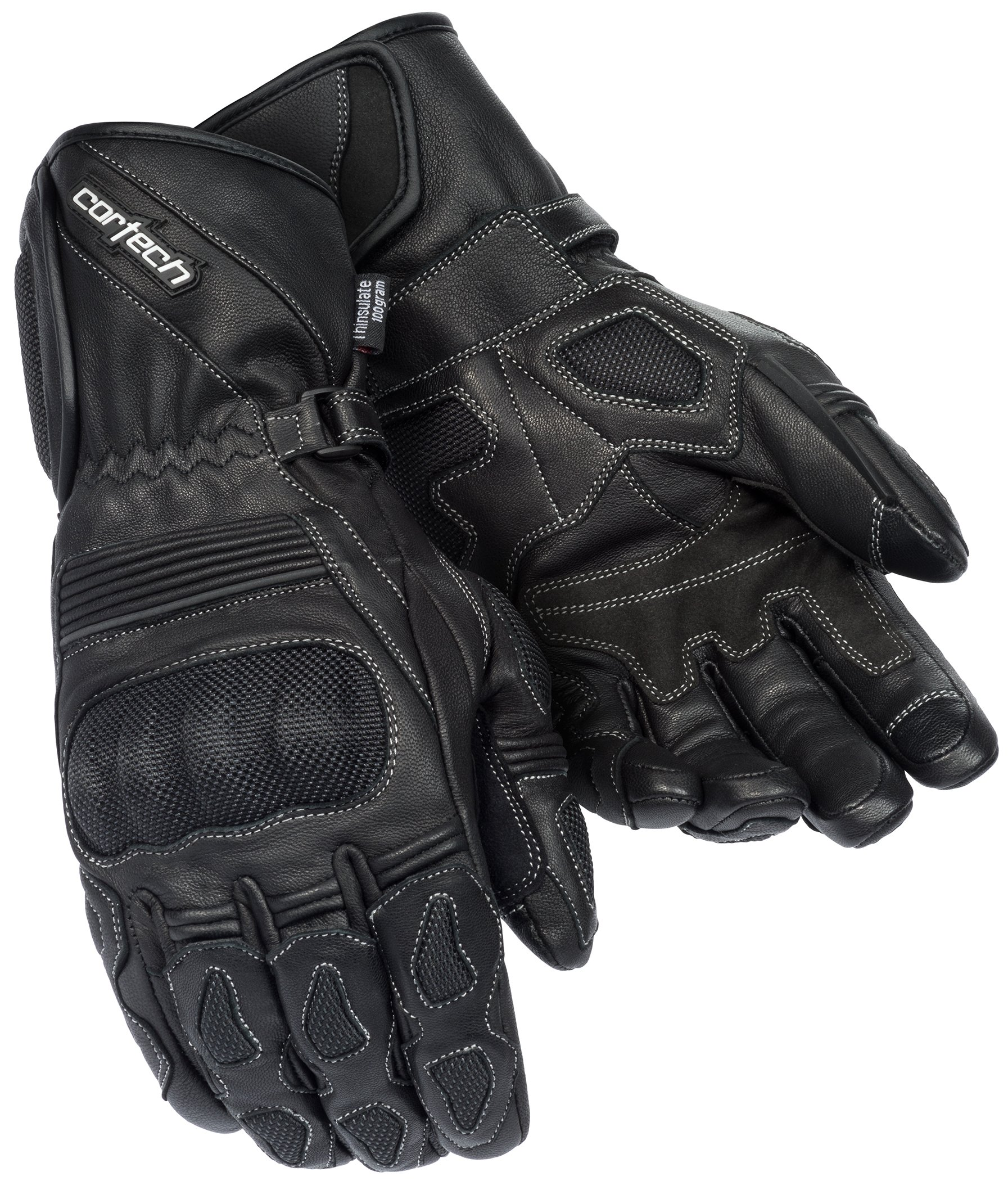 Cortech Men's Scarab 2.0 Winter Motorcycle Gloves (Black, X-Large)