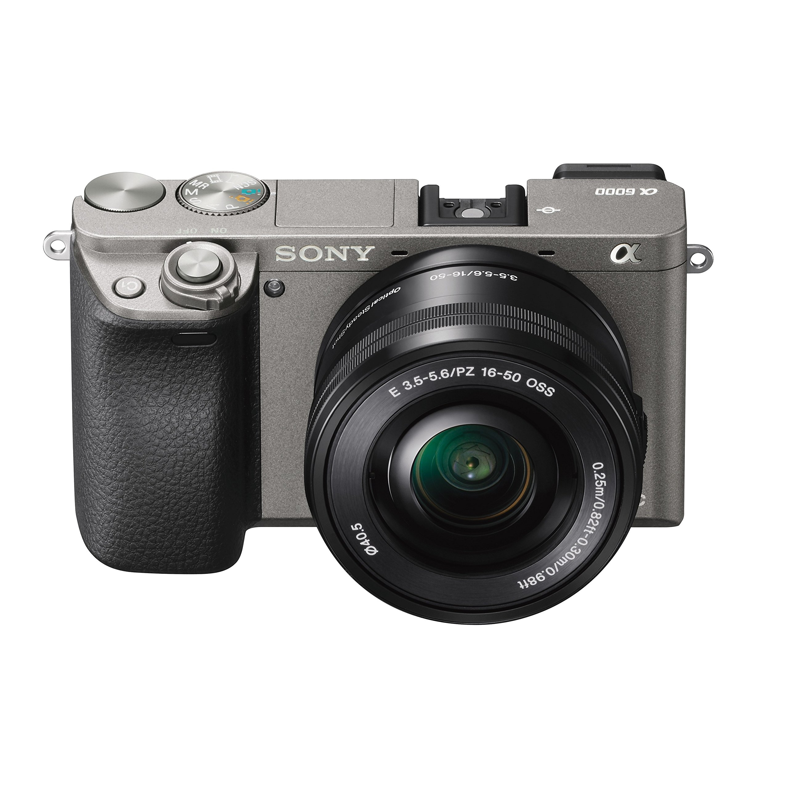 Sony Alpha a6000 Mirrorless Digital Camera with 16-50mm Lens, Graphite (ILCE-6000L/H)