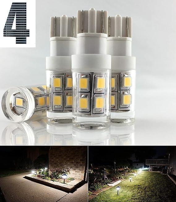 Malibu Landscape Lighting 4 Four Wedge Base Clear Bulbs 4W 12V Sealed Package