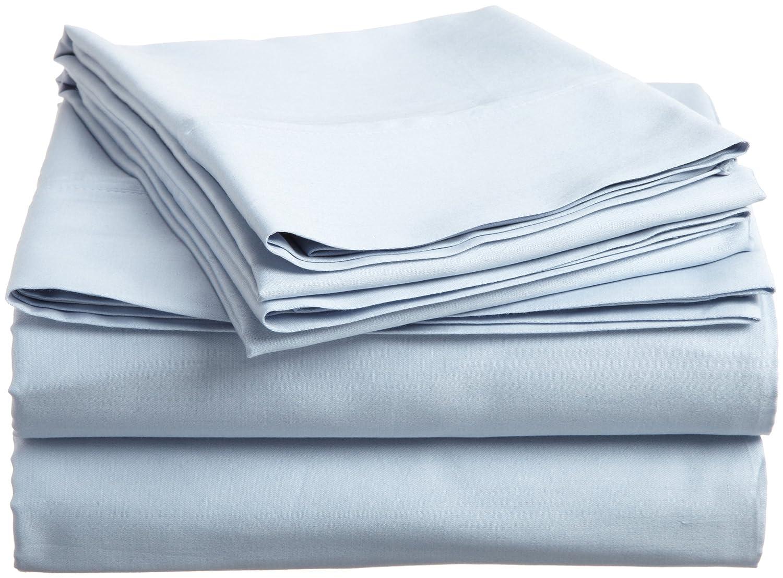 Superior - Juego de sábanas 198 x 203 cm, de algodón de 400 Hilos, Color Blanco Liso, 4 Piezas: Amazon.es: Hogar