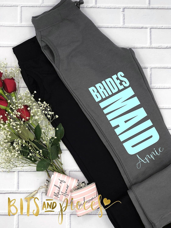 Bridal Party Pants -Bride Sweatpants,Bridesmaid workout pant, Maid of Honor, bottoms, fleece, Bachelorette Party, Bachelorette Spa Day