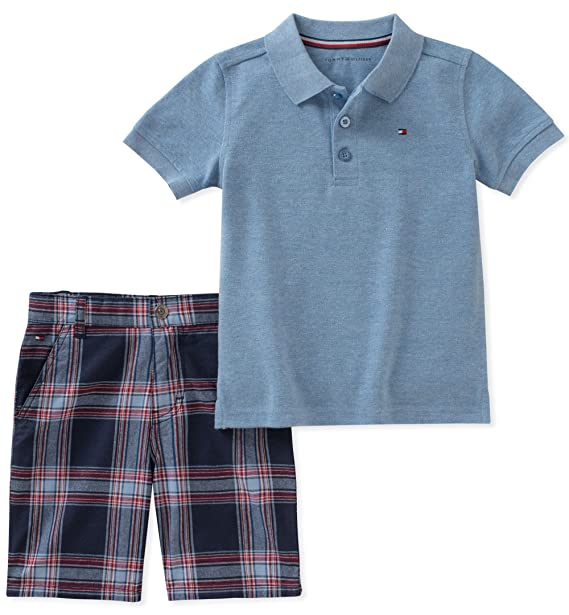 d22706319aa1 Tommy Hilfiger Boys Toddler Boys 2 Pieces Polo Shorts Set  Amazon.ca   Clothing   Accessories