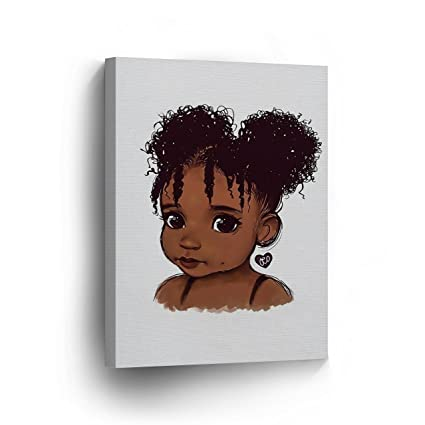 Amazon Com Pure African Girl Cute Curly Hair White