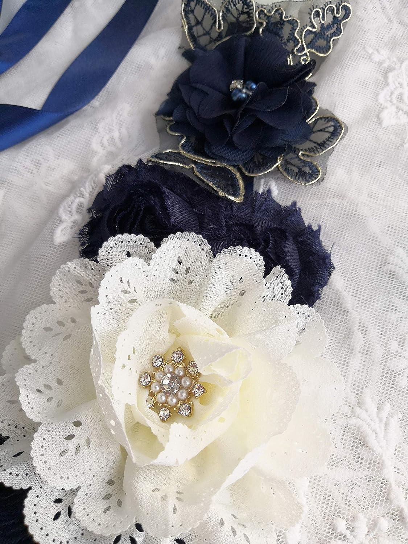 Maternity Flower Sash Belt Baby Shower for Mommy Pregnancy Belly Sash