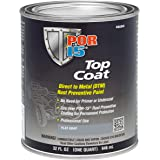 POR-15 46604 Top Coat Flat Gray Paint, 32 fl. oz., 1 quart