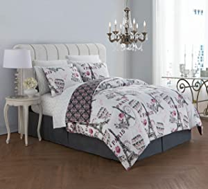 Geneva Home Fashion Darcy Comforter Set, King, Blush