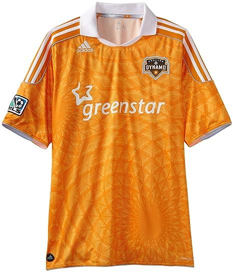 newest 49fec d868d Amazon.com : MLS Men's Houston Dynamo Wordmark Replica ...