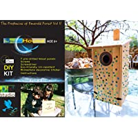 Bird House Kit For Kids - DIY Bluebird House, in a Gold-Stamped Gift Box: Includes Metal Ring, Screwdriver & 345 Pcs Eco-Friendly Acrylic Rhinestone Stickers; 100% Non-Toxic Safe For Use