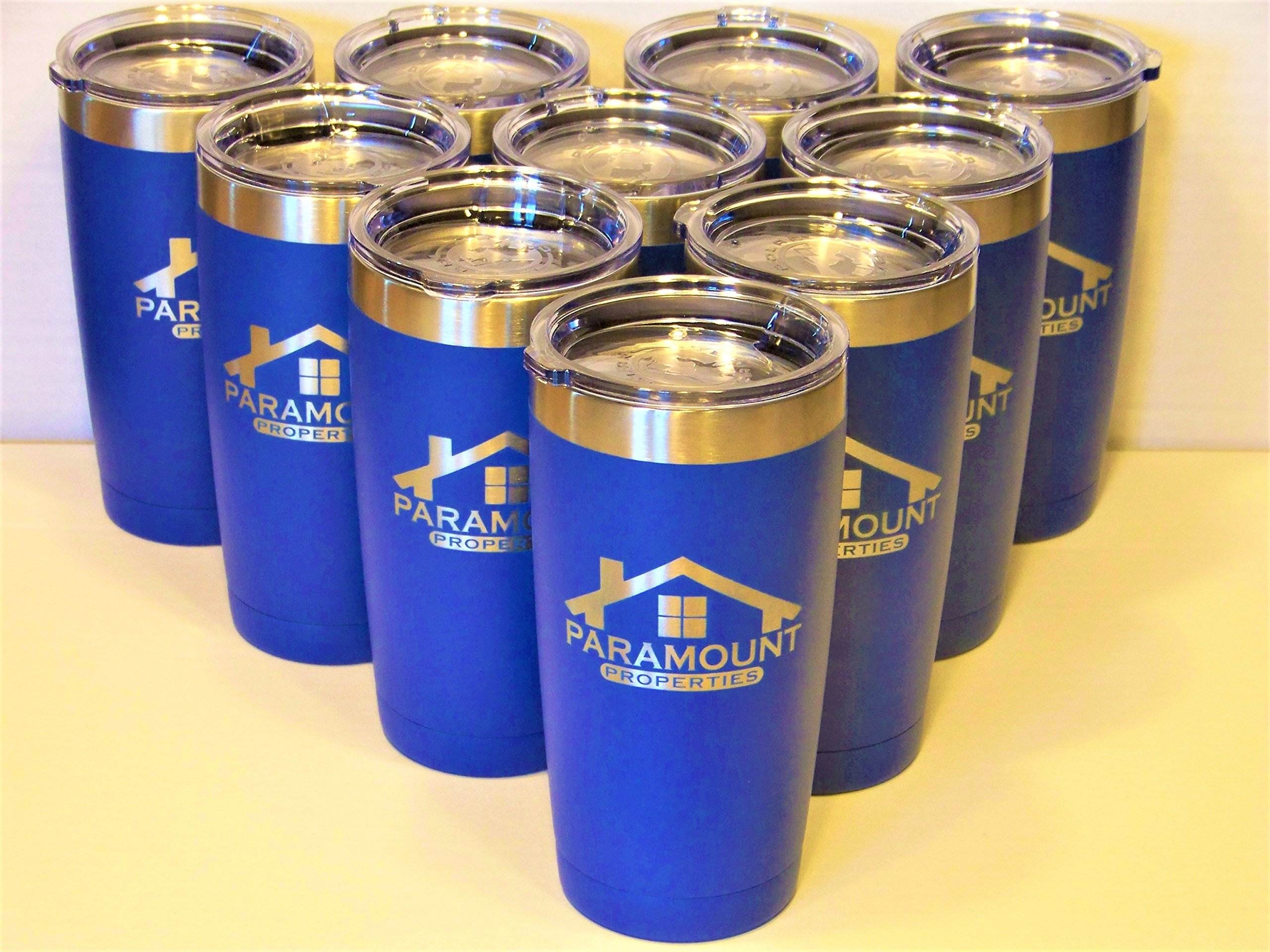 20 oz insulated stainless steel tumblers - set of 10